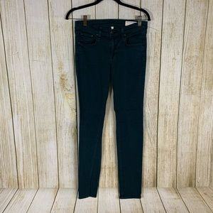 Rag & Bone Dark Green Skinny Legging Jeans